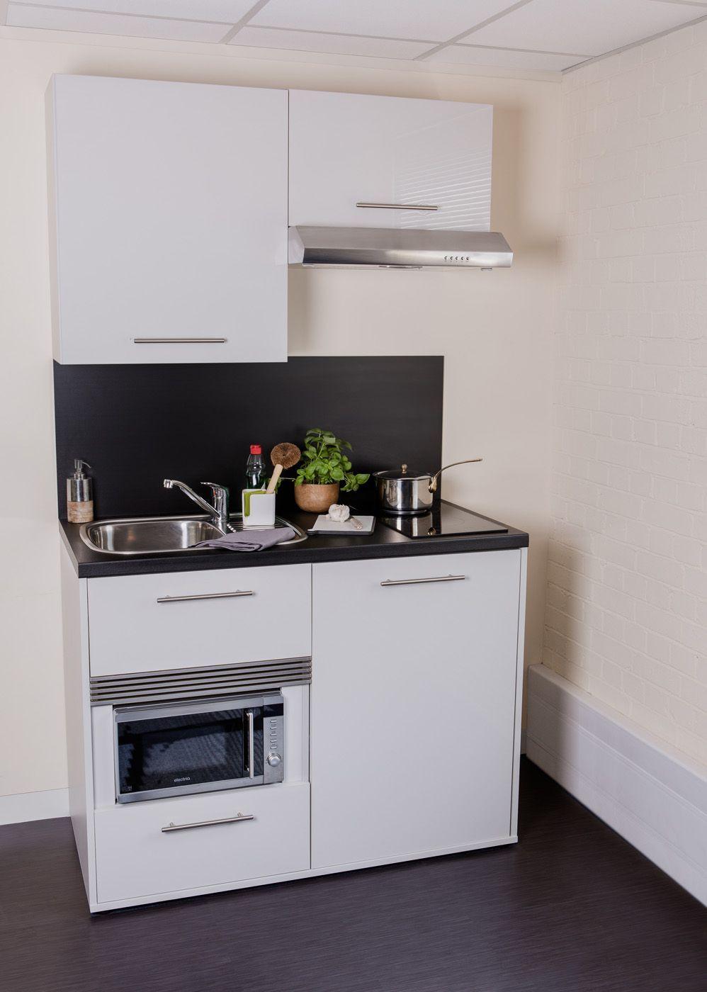 Mod Kitchenette From John Strand Marsha Spivry In 2020 Small Kitchen Units Tiny Kitchen Design Small Apartment Kitchen