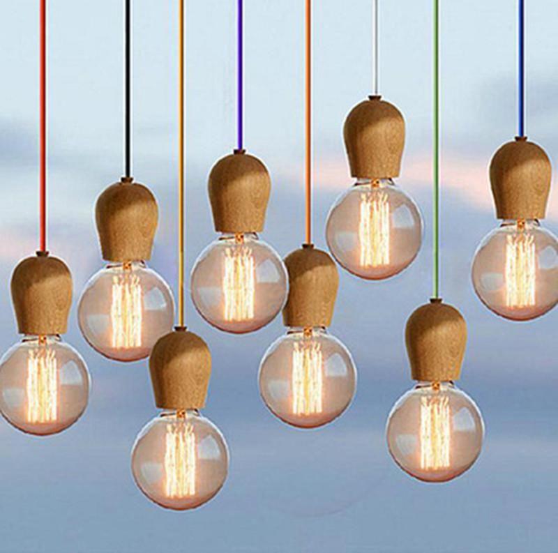 Diy new modern diy wooden edison pendant light ceiling