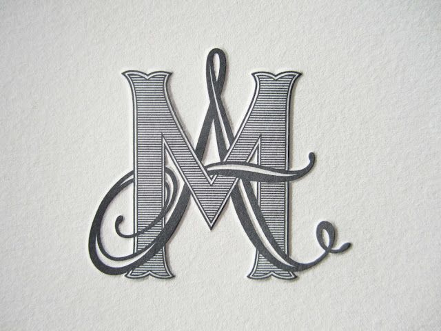 a monogram for people without middle names! and these are my initials! where has this been all my life.