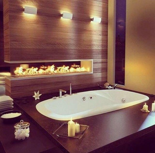 Modern warm bathroom