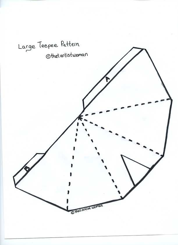 teepee pattern for the kids pinterest teepee pattern With teepee craft template
