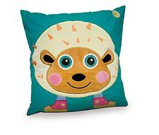 NEW Oops Happy Super Soft Hedgehog Appliqued Cushion