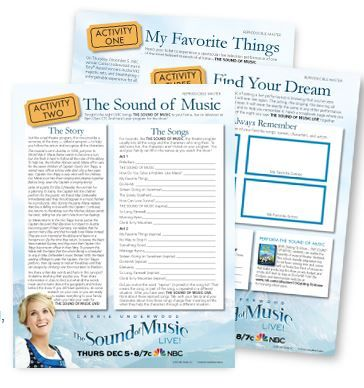 Free Lesson Plans for The Sound of Music LIVE! | History | Pinterest ...