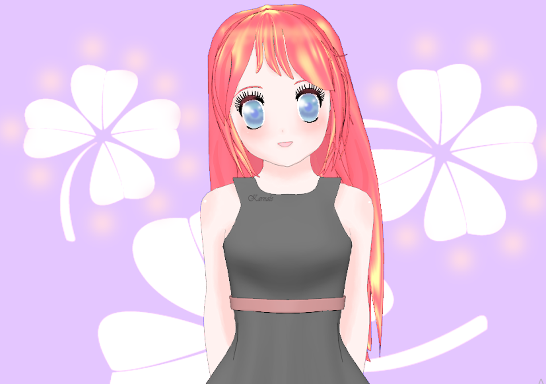 anime 3d blender amime_girl model 3d_model Anime