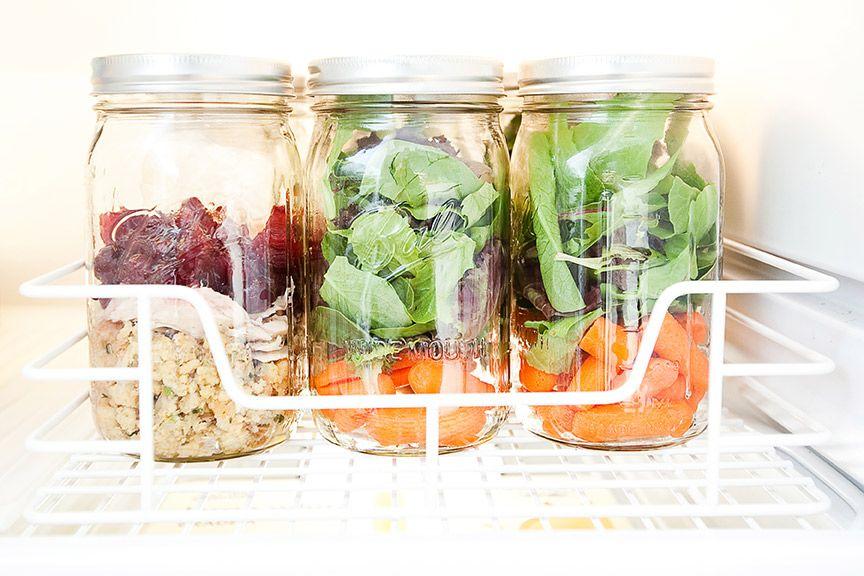 Image result for organise fridge mason jar