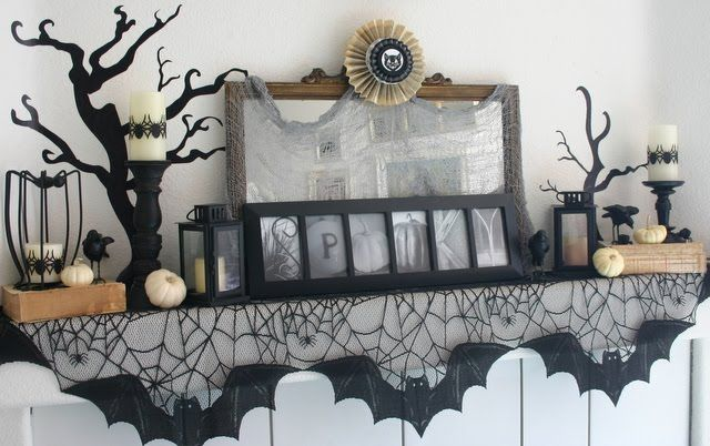 Halloween Mantles SEASONAL Halloween Pinterest Halloween