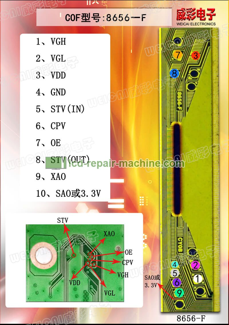 Cof Tab Flying Line Figures Lcd Tv Repair Machine Sony Led Tv Electronic Circuit Projects Lcd Tv