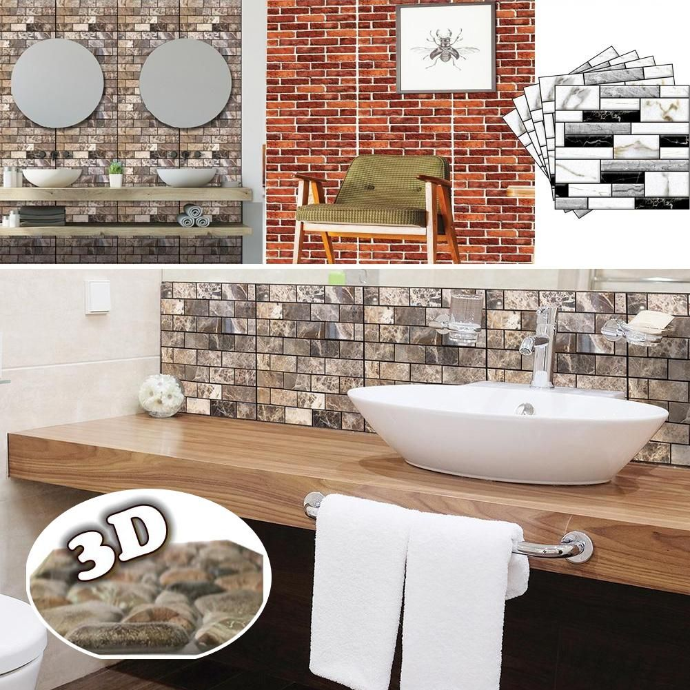 30x30cm Kuche Fliesen Aufkleber 4mm Dicke Touch Feel Wand Papier 3d Textur Abziehbild Home Dekoration Fliesen Tapete Dekor Diy Bad Wandbild