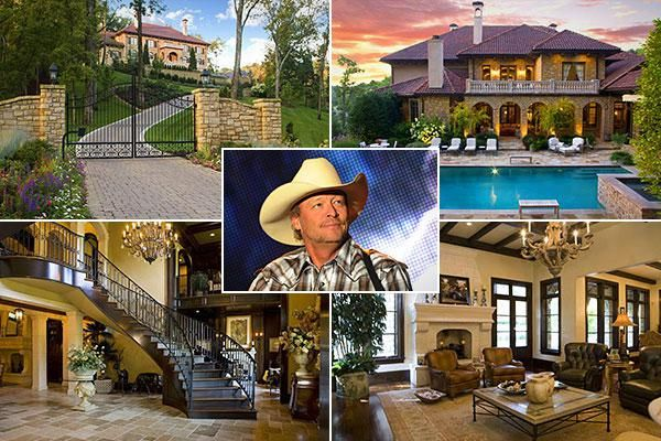 Homes of country 39 s rich and famous country music stars for Famous house music