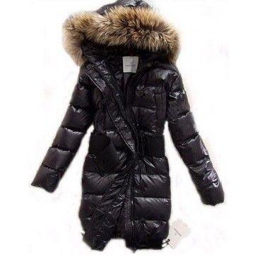 Moncler lucie new pop star women fur collar coats black