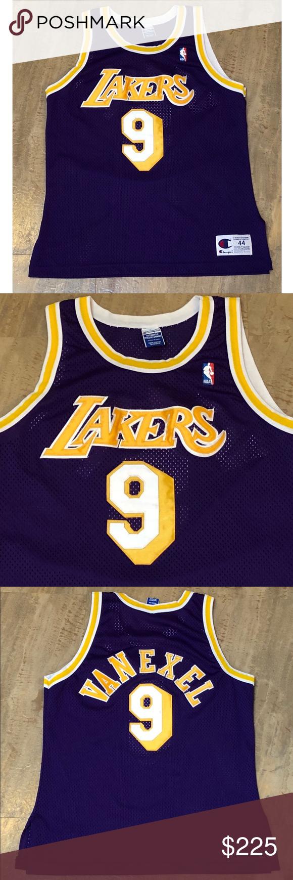 f8e872727 Champion Authentic LA Lakers Nick Van Exel Jersey Vintage Champion Nick Van  Exel Los Angeles Lakers