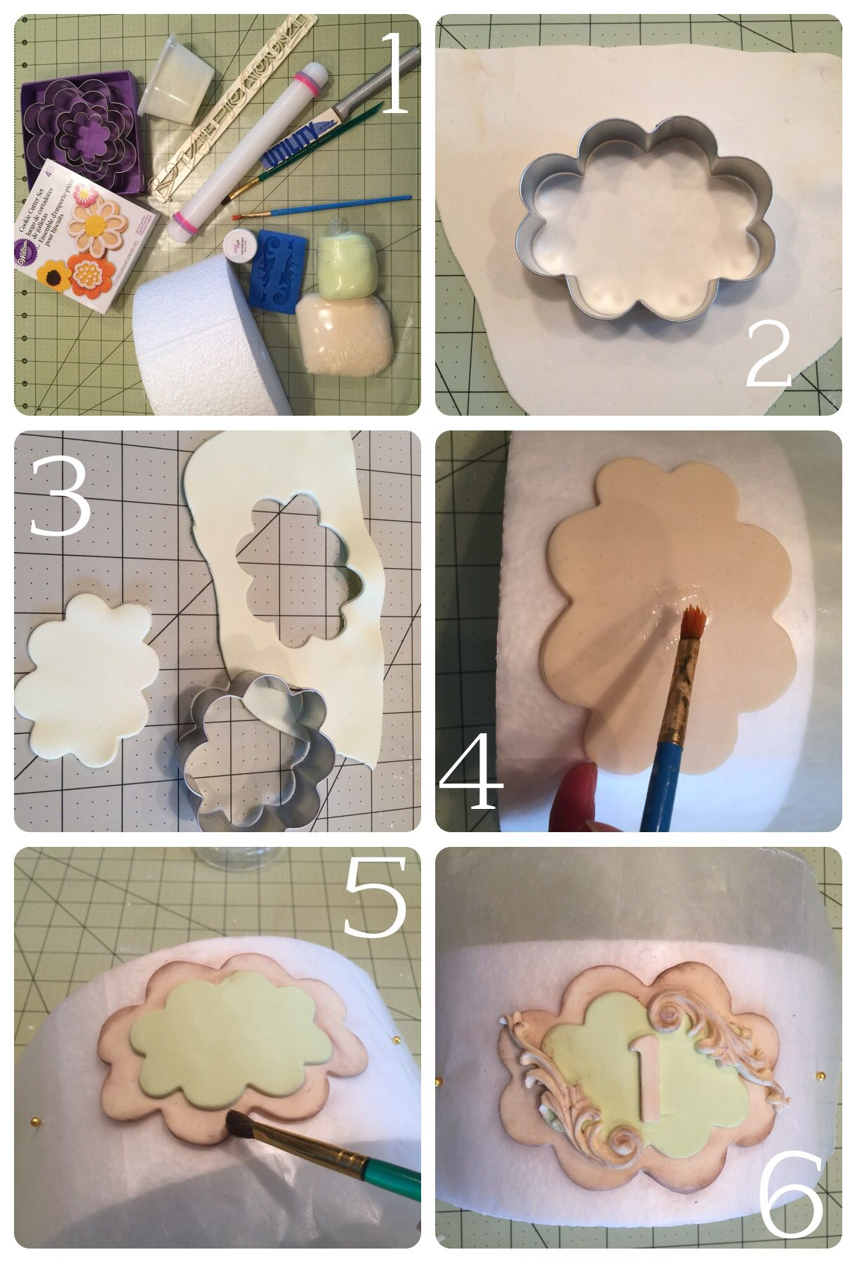 How to make a vintage plaque from fondant or modeling chocolate ...