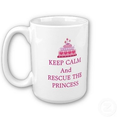 'rescue the princess'....cute mug! $17.95