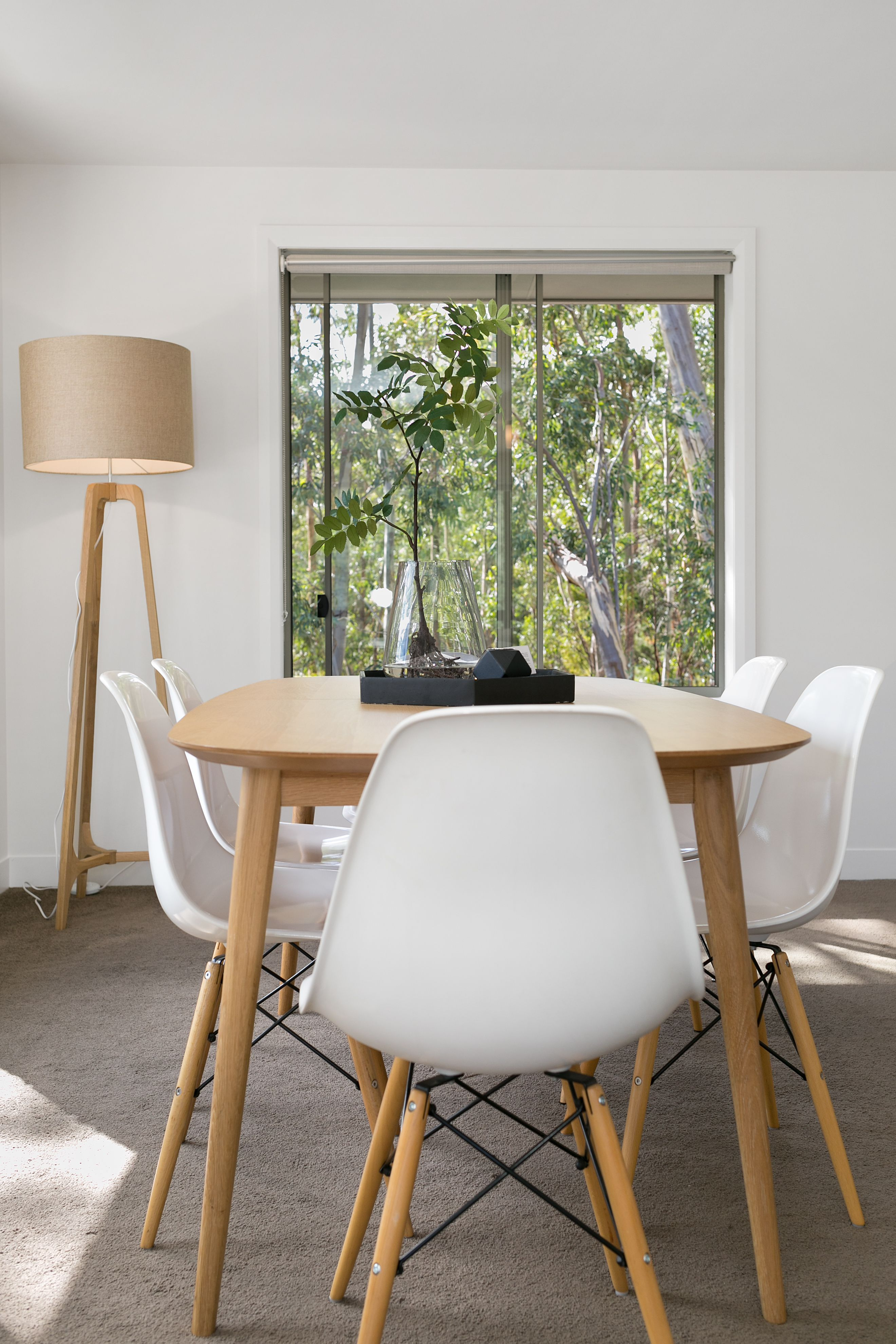 Dining Table Floor Lamp Bush Setting Replica Eames Chairs