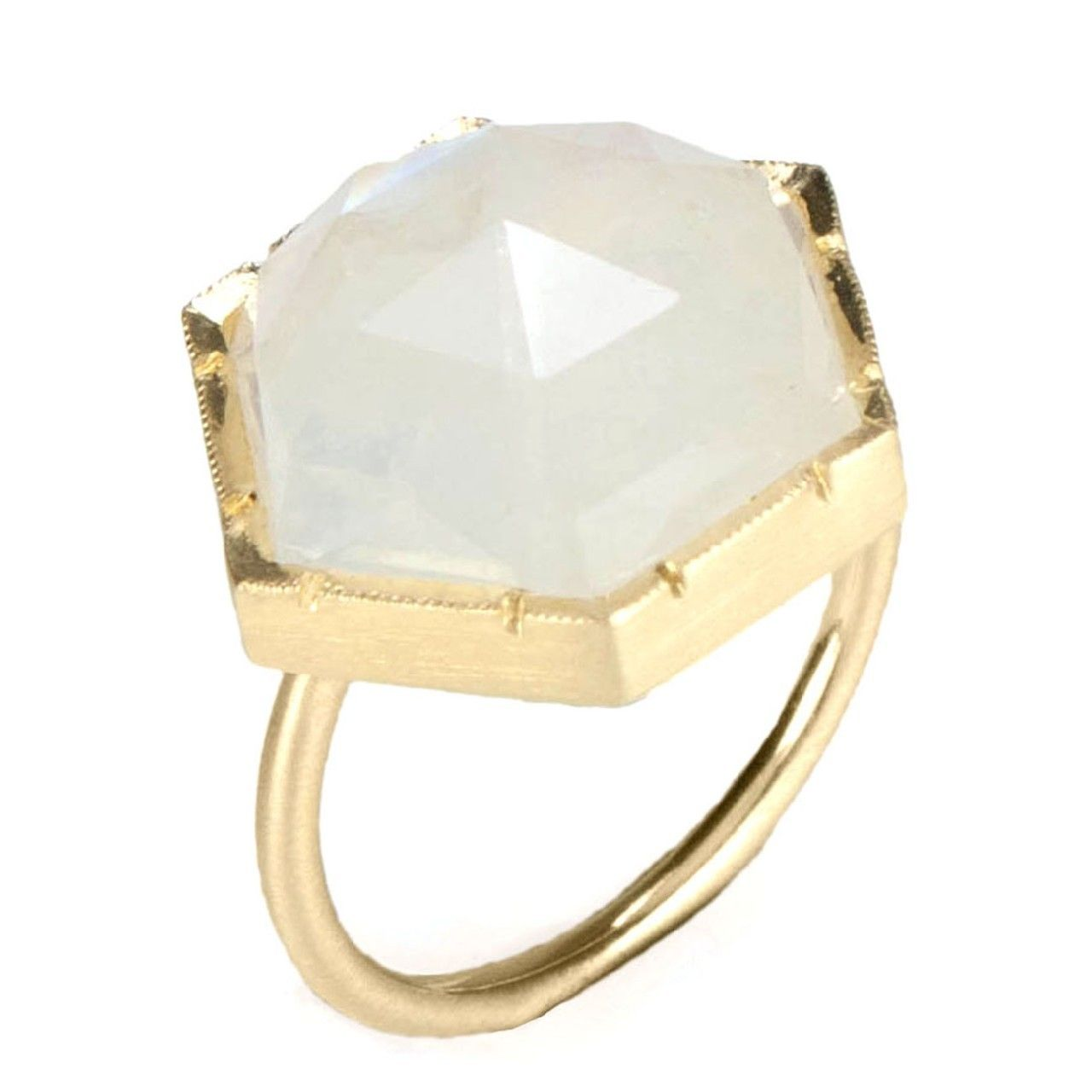 Irene Neuwirth - Hexagon Moonstone Ring (Moonstone) - Hirshleifers #ILOVEHIRSHLEIFERS