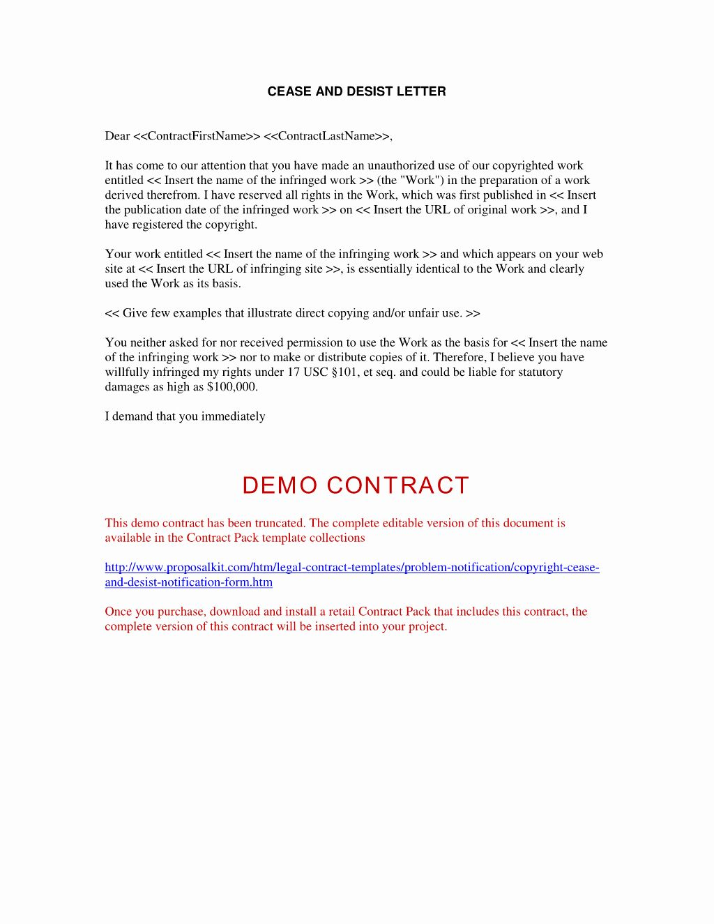 The charming Cease And Desist Letter Sample