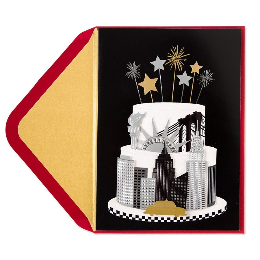 Taylor Swift New York Cake Birthday Card Cards And Craft