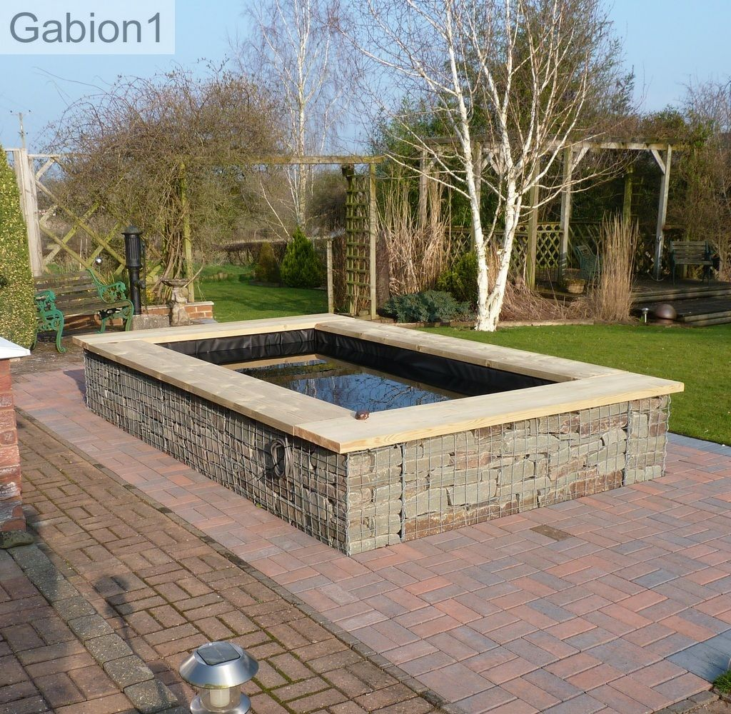 Gabion Garden Pond With Seating Http://www.gabion1.co.uk