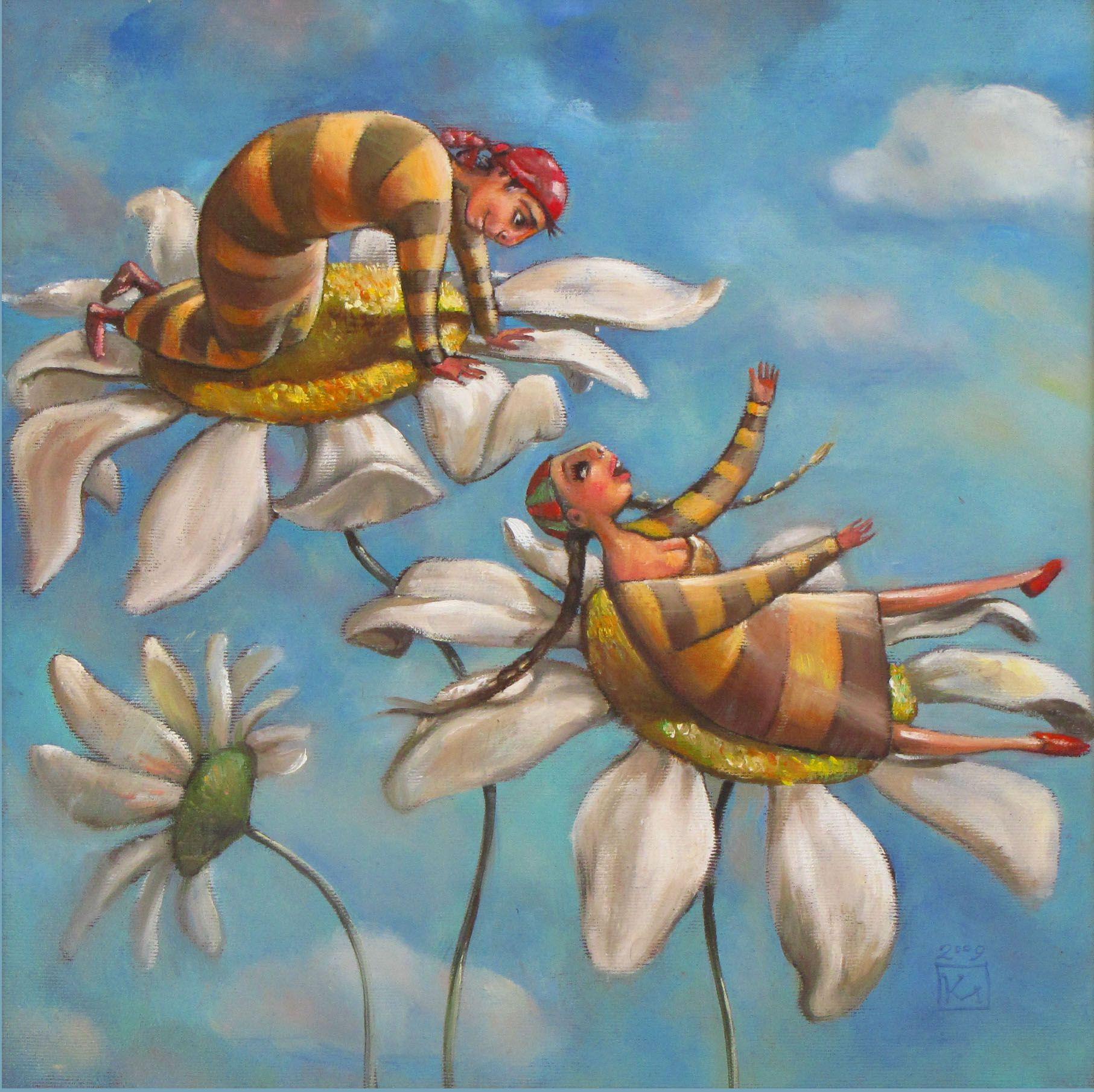 ≗ The Bee's Reverie ≗ Bee Daisies | Mariana Kalacheva