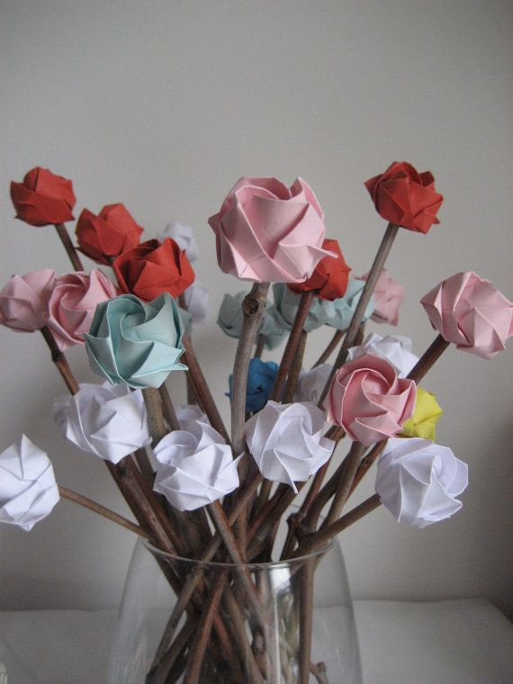 Say happy valentines with origami roses i love these paper say happy valentines with origami roses i love these mightylinksfo