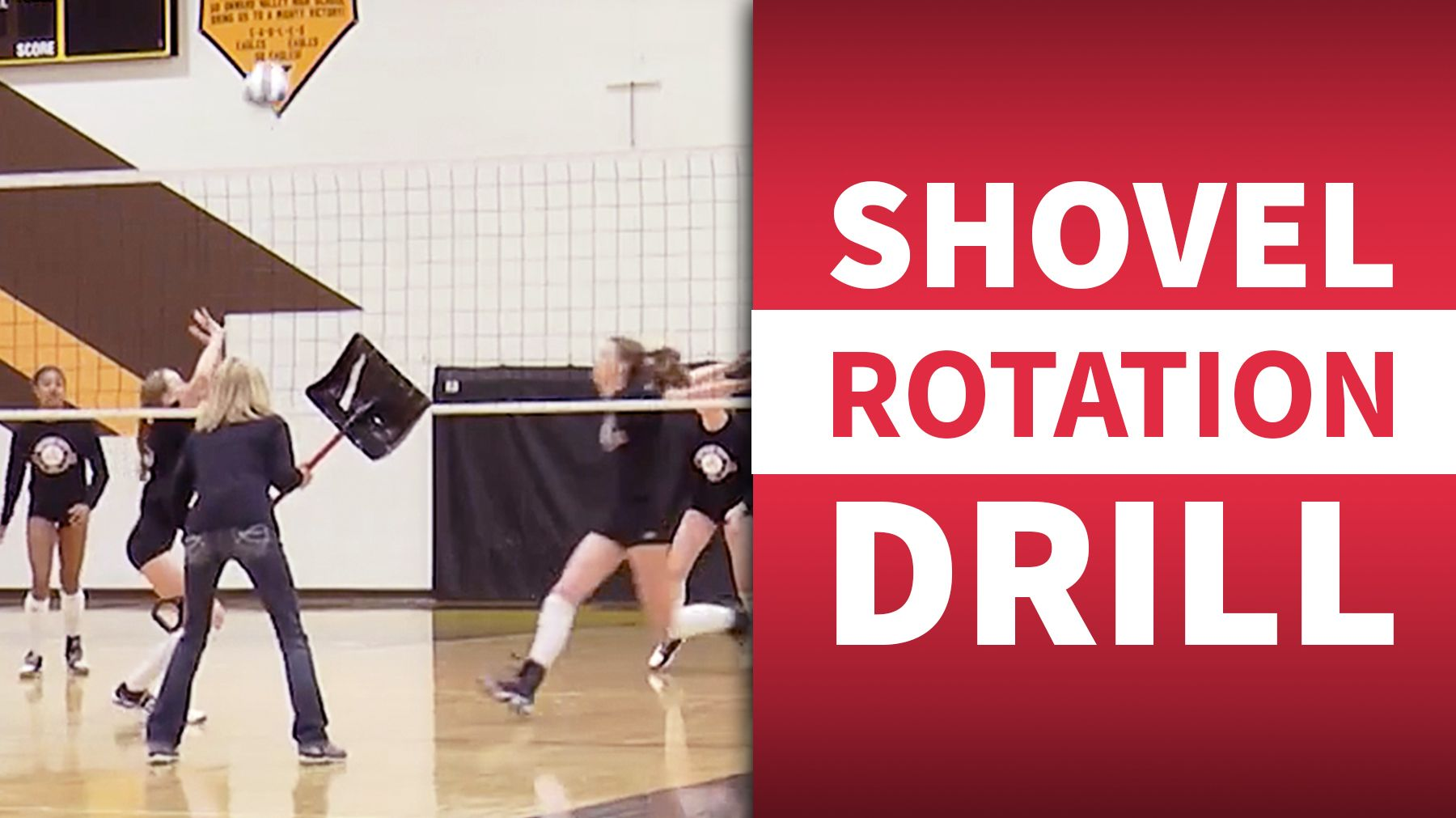 Shovel Rotation Drill Coaching Volleyball Volleyball Serve Volleyball