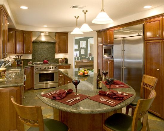 round kitchen island design, pictures, remodel, decor and ideas
