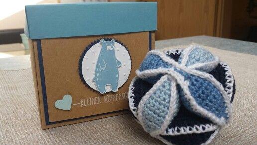Armish-Babyball mit Geschenkverpackung