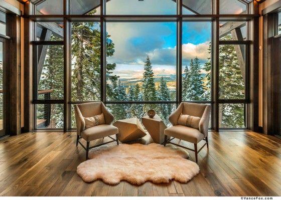 Otra Vez Amnplias Ventanas Mountain Modern Winter House Chalet