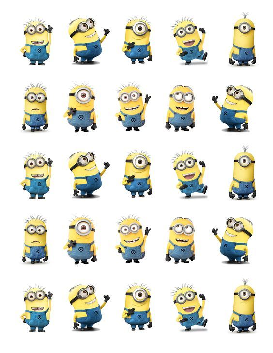 Despicable Me Minions Printable Party approx. 1.5\