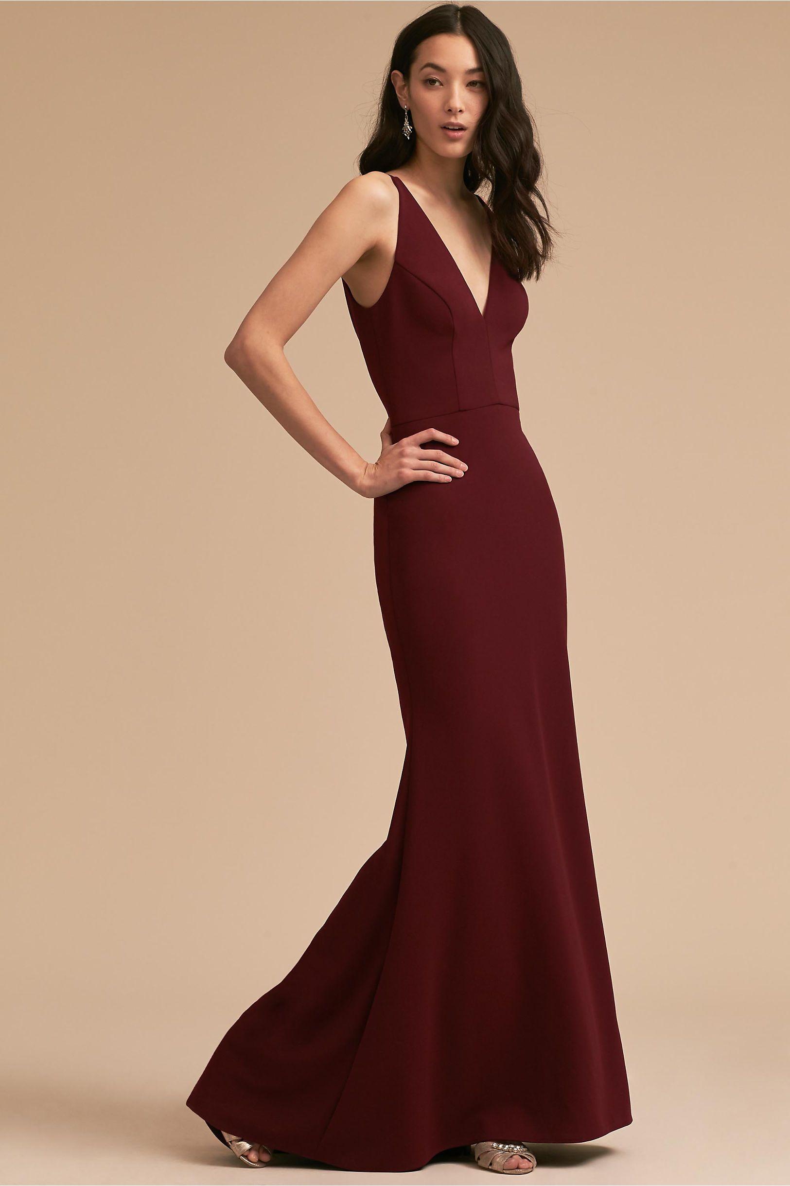 Dress for wedding party female  BHLDN Jones Dress Burgundy in Bridal Party  BHLDN  Gowns