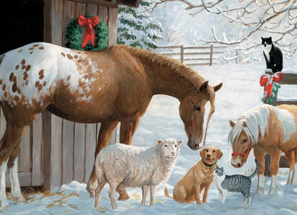 Pony And Friends By Persis Clayton Weirs Christmas Horses