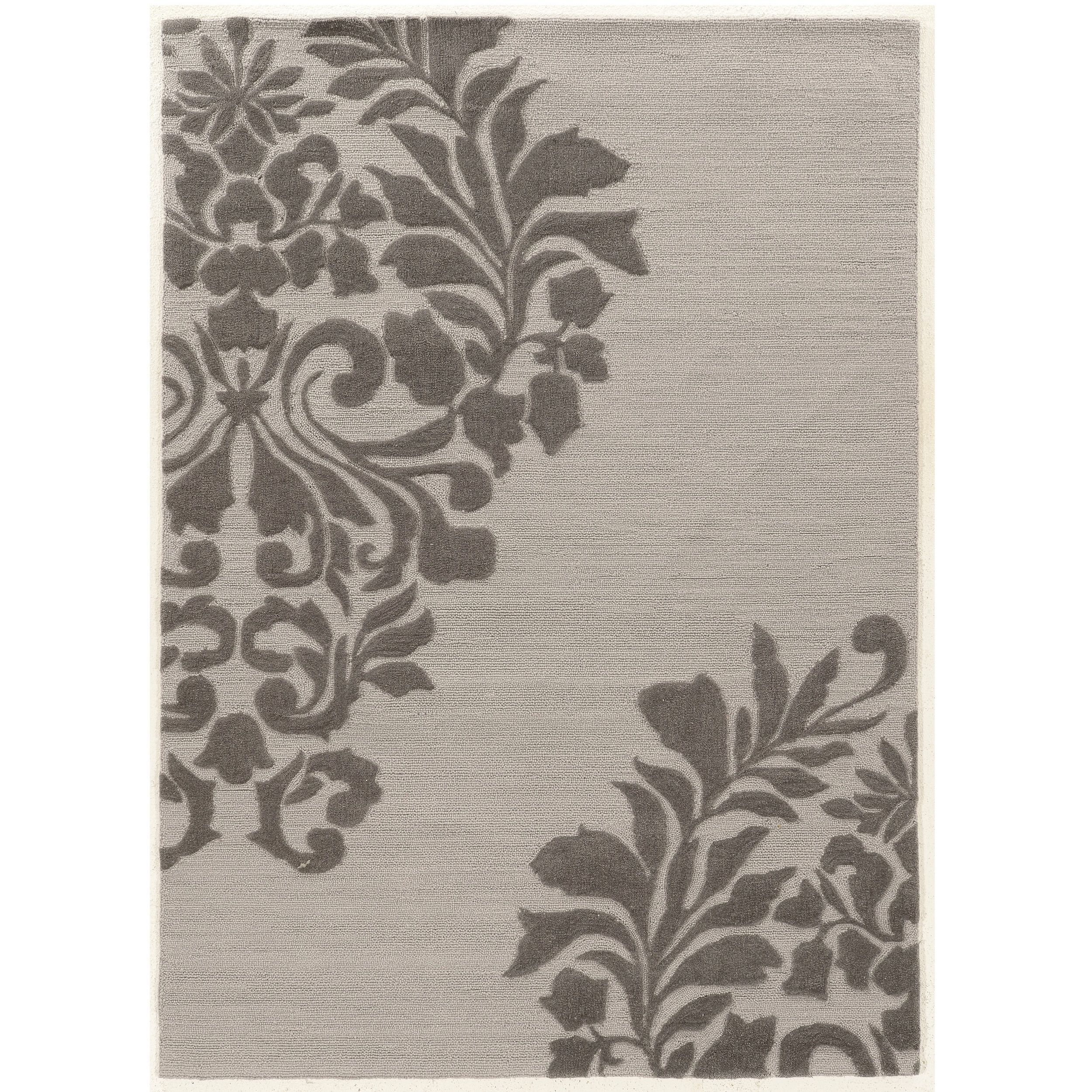 "Linon Hand Tufted Trio Medallion Grey Polyester Rug (1'10"" X 2'10"") (Size), Size 2' x 3'"