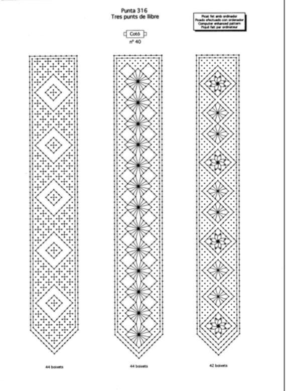 MODÈLE, hacher, signets de dentelle, bracelets. 3 PAGES
