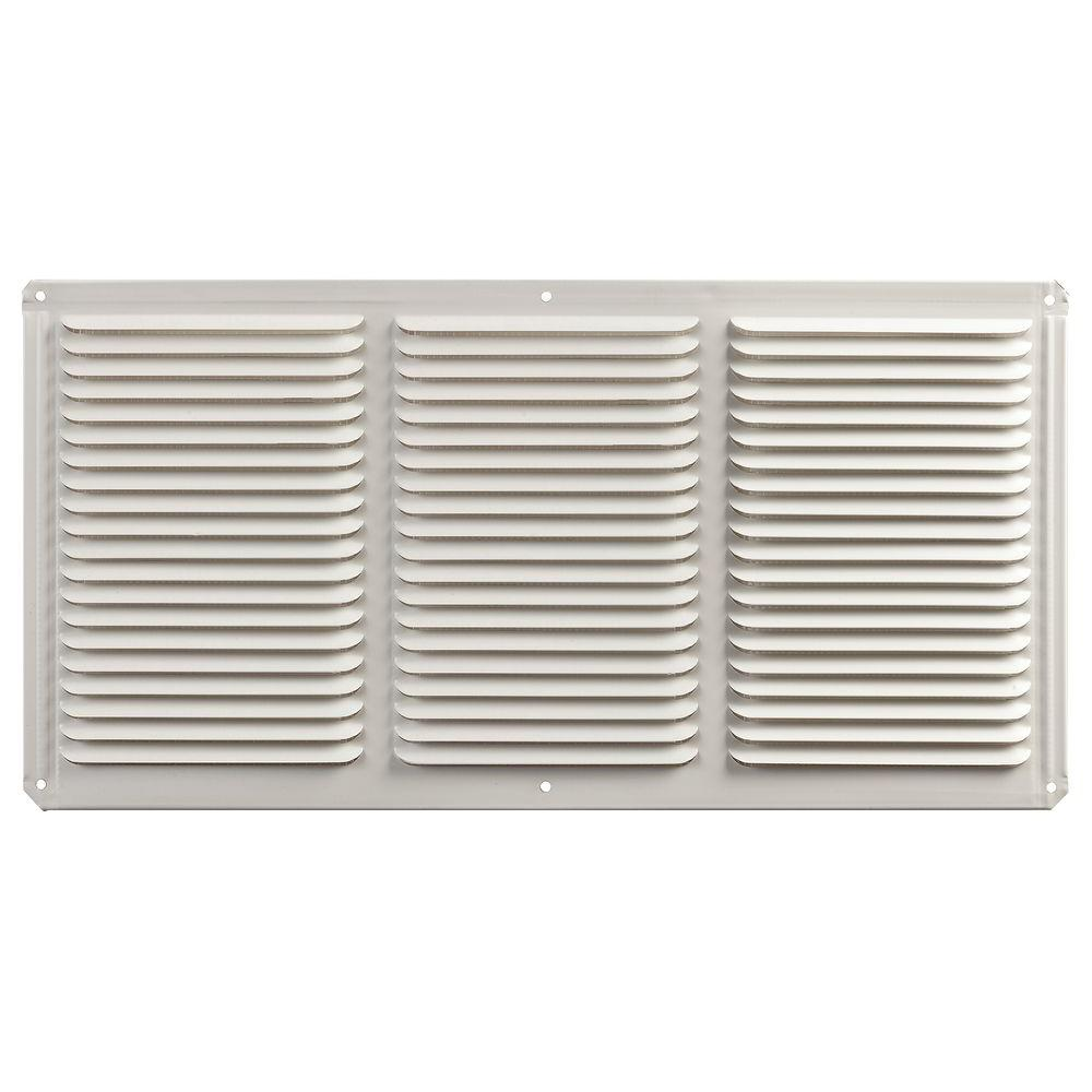 Master Flow 16 In X 8 In Aluminum Under Eave Soffit Vent In White Eac16x8w Home Depot Shed House Plans Vinyl Soffit