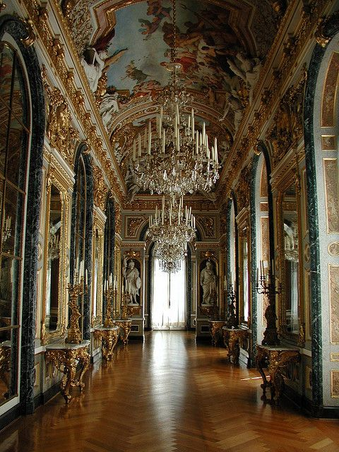 The Small Gallery At Herrenchiemsee Palace In Herreninsel Bavaria Germany The Palace Was To Have Been A Castles Interior Palace Interior Beautiful Buildings