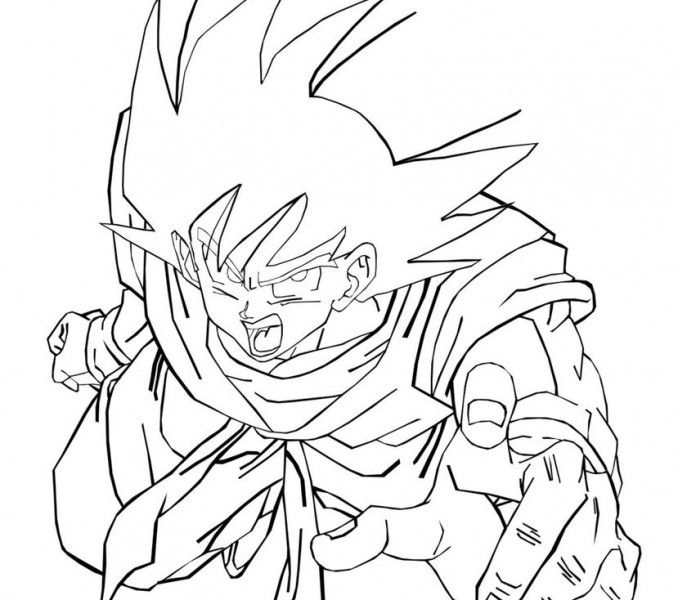 Goku Coloring Pages Free Printable Dragon Ball Z Coloring Pages For ...