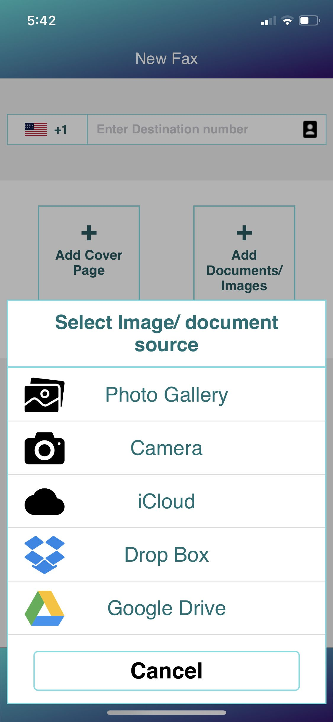 Fax & Fax App Gives you the feeling of a real mobile fax