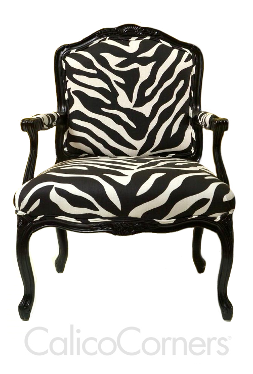 zebra print upholstery fabric tub chair design | calico corners fabric browns | ... French Chair With Zebra ...