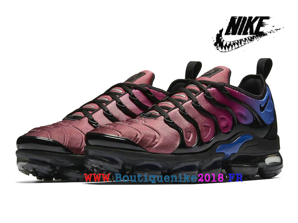 28cff9c33e5 Nike Air VaporMax Plus AO4550 001 Chaussures Nike TN Pas Cher Homme Black  Team Red Violet