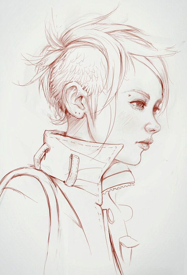 sketches of how to get pixie hair cut