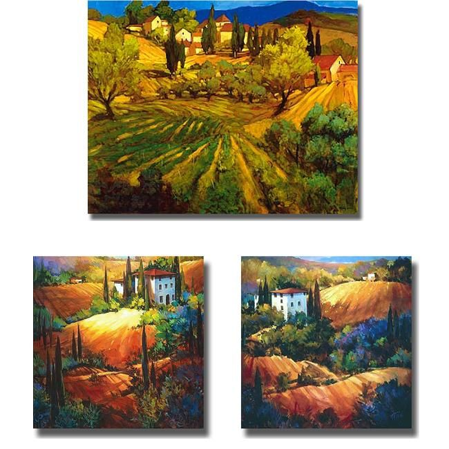 Artist: Craig And Ou0027Toole Title: Tuscan HillsidesProduct Type: 3 Piece ·  Office ArtOffice Supplies3 ...