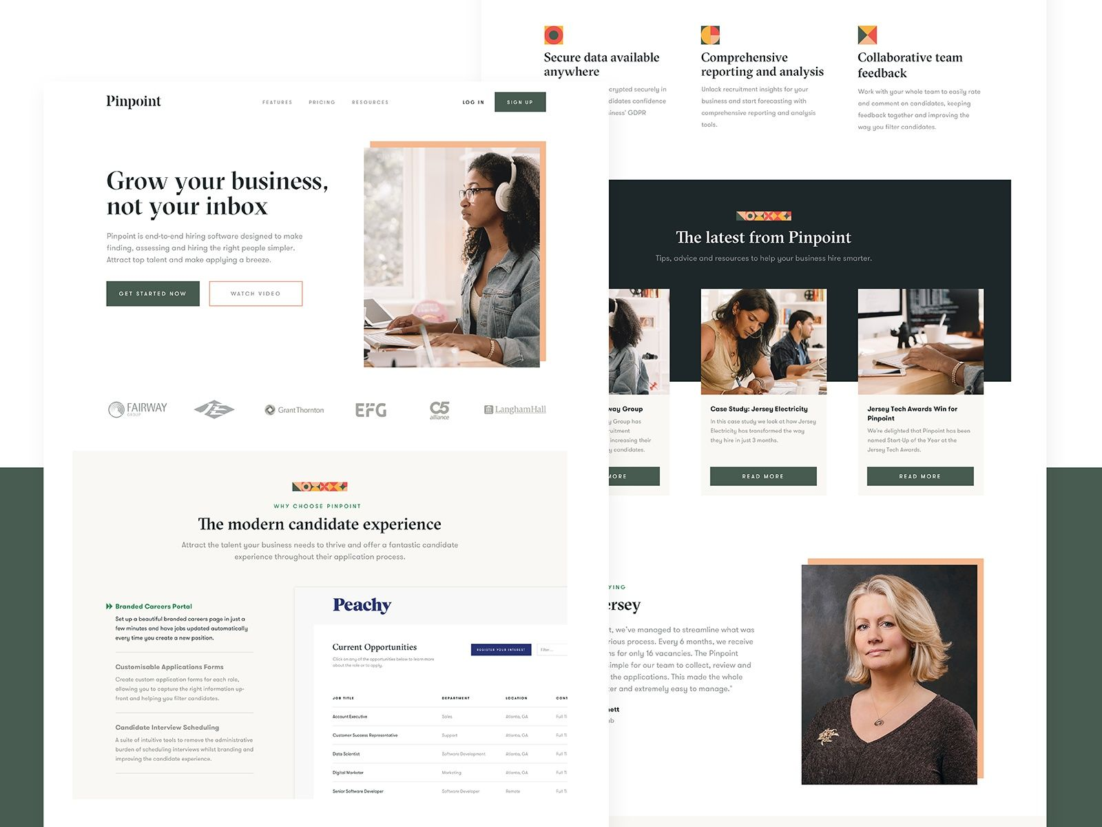 Pinpoint Homepage In 2020 User Interface Design Brand Guidelines Interface Design