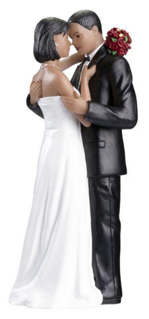 Adorable African-American Wedding Cake Topper Figurine | Wedding ...