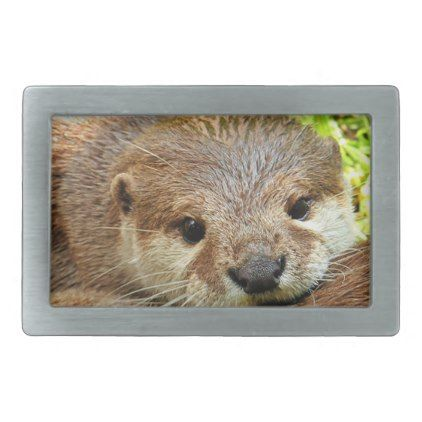 Otter wildlife animal cute belt buckle - love gifts cyo personalize diy