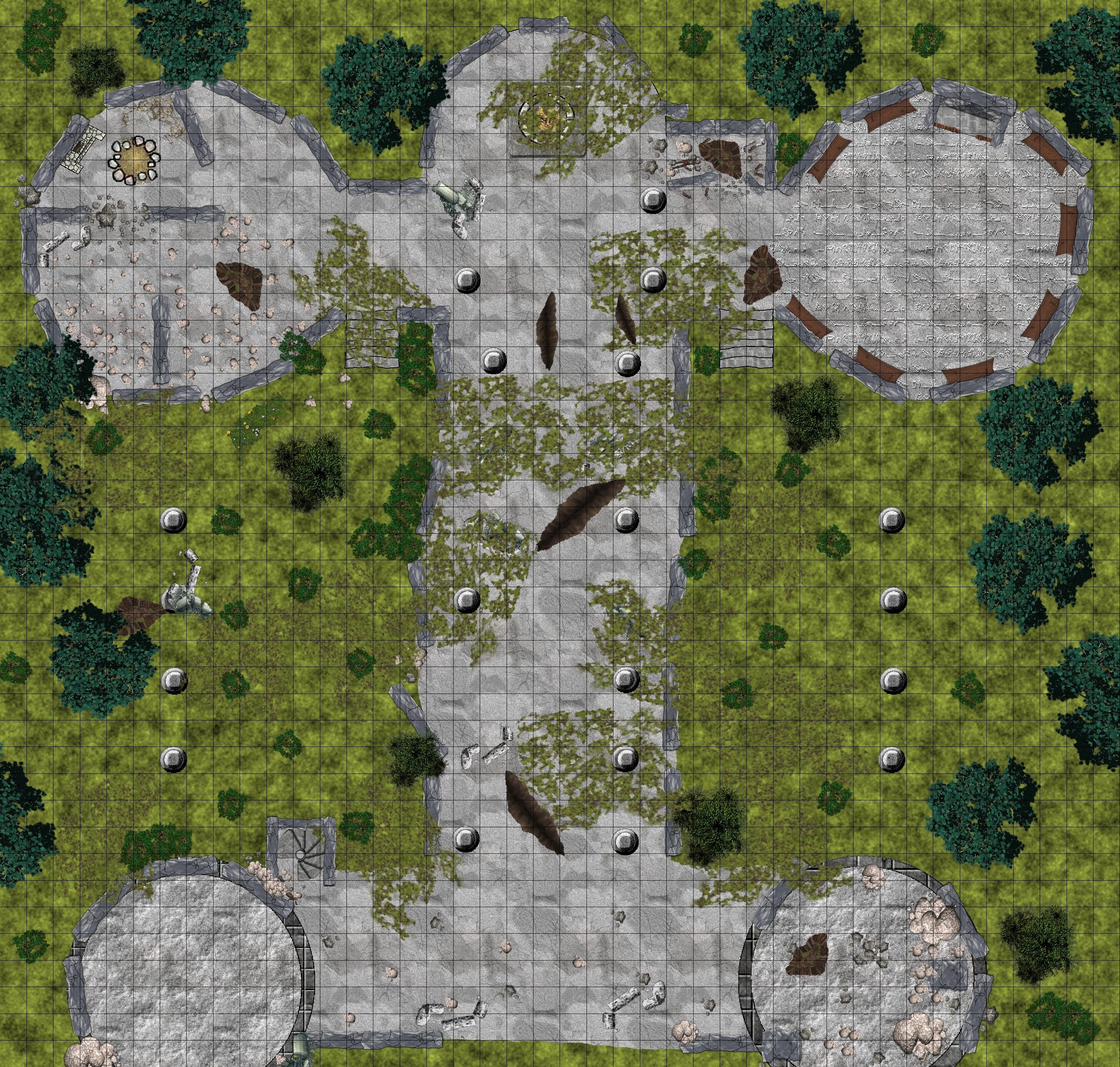 how to draw ruins on a map