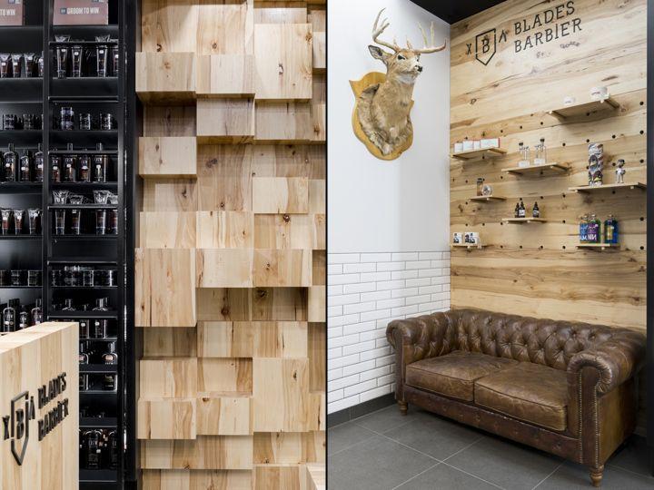 Blades Barbershop By Parka Quebec City Canada Retail Design Blog Quebec City Canada Quebec City Retail Facade
