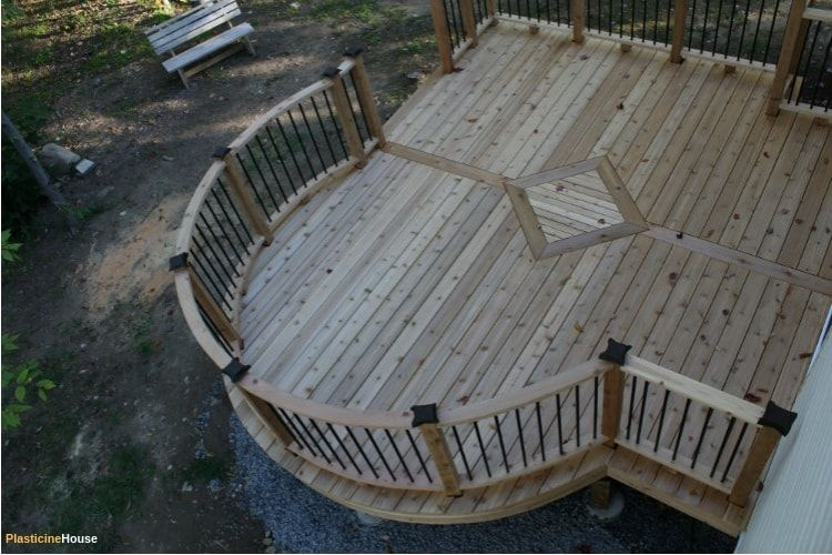 How To Build A Curved Deck Curved Deck Building A Deck Deck Layout