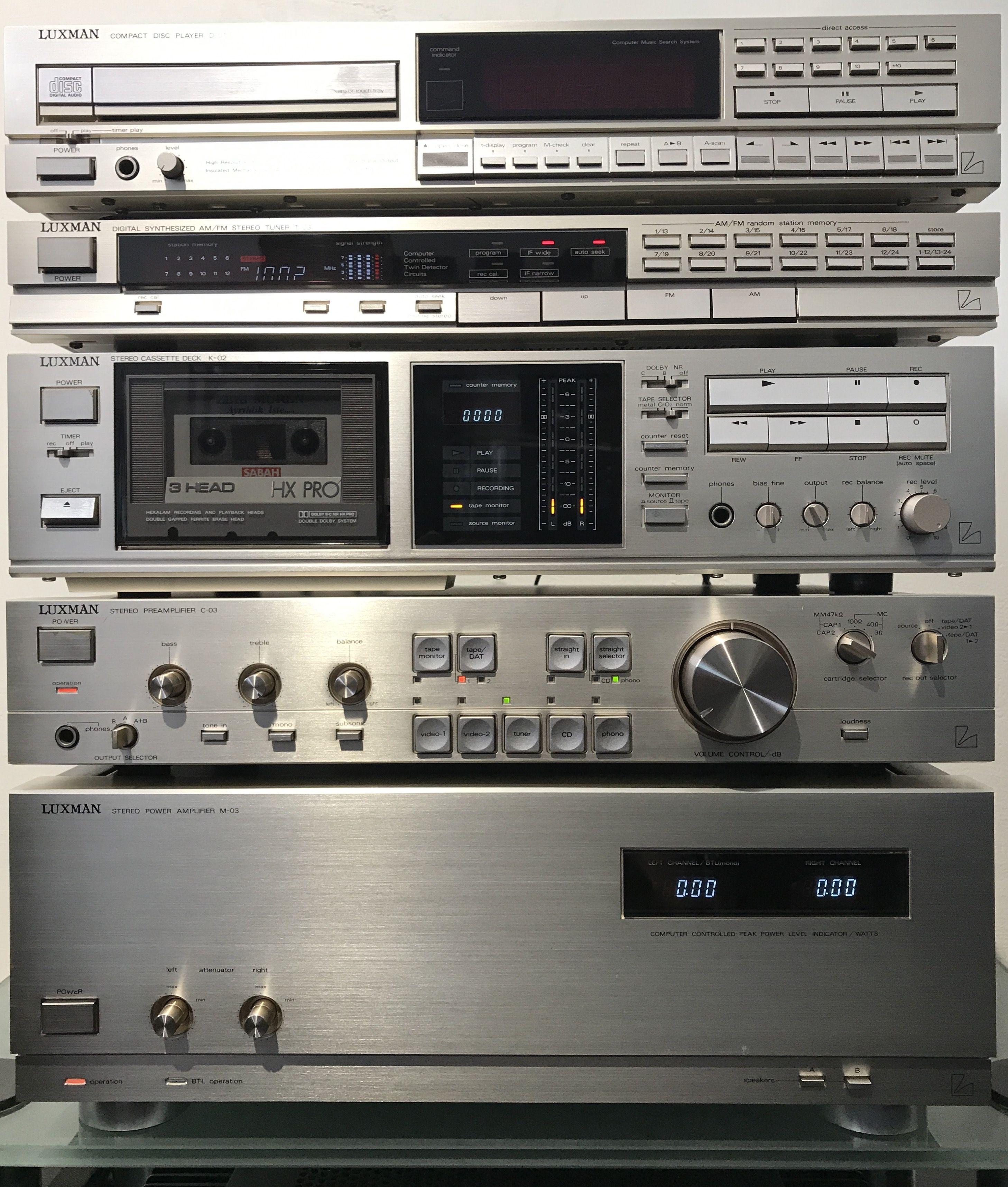 Luxman C03 M03 Pre Power Aparelho De Som Radio Antigo Retro