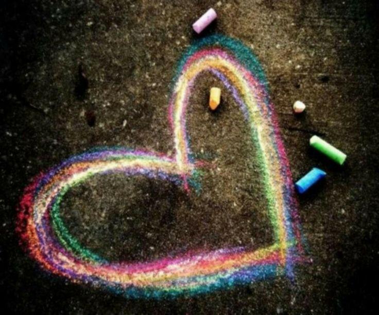Chalk heart | All the pretty wallpapers | Pinterest | Heart, Love ...