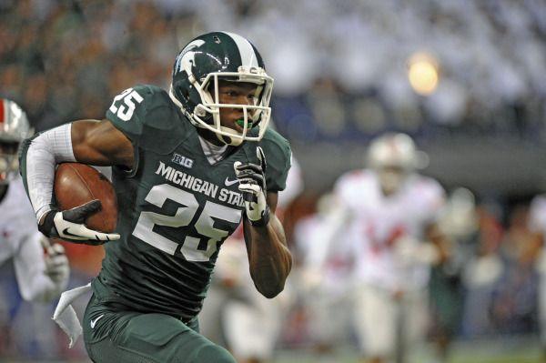 Watts Jackson S Scoop Score Gives Msu Miraculous Win Over U M Michigan State University Athletics Michigan State Football Big Ten Football Michigan State University
